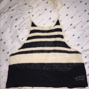 American Eagle knitted crop top